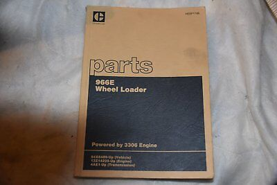 Caterpillar Cat 966E wheel loader PARTS book