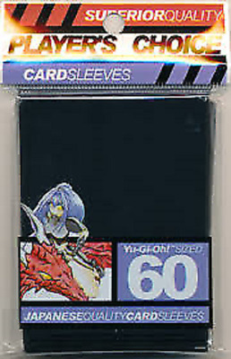 Players Choice 60 Count Black Yugioh Small Deck Protector Card Sleeves SEALED NE