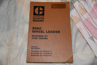 Caterpillar Cat 966C wheel loader PARTS book