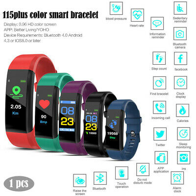 ID115 Smart Watch Bluetooth Monitor Frequenza Cardiaca Contapassi Calorie
