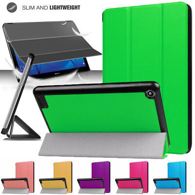 "Smart Flip Leather Case Cover For Tab Amazon Kindle Fire HD 10"" 7th Generation"
