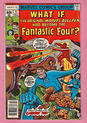 WHAT IF #11 Marvel bullpen became FF JACK KIRBY - STAN LEE cover APPEARANCE