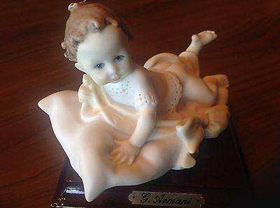Giuseppe Armani Figurine baby on a pillow Florence