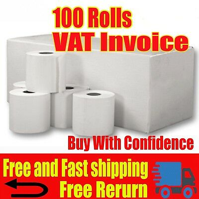 20 Rolls 57x40 Thermal Rolls Compatible With Credit Card Machines & PDQ Rolls
