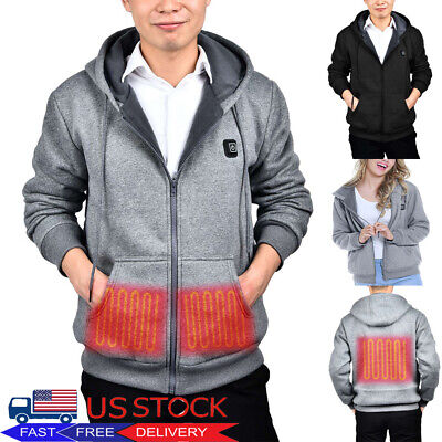 Electric USB Heated Warm Coat Women Men Heating Hoodies Jacket Clothing Skiing