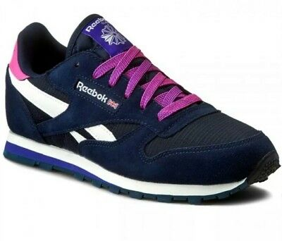 84106fc61ea3da Reebok Women s Junior Girls Classic Leather Camp Trainers Limited Edition