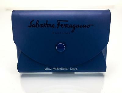 Salvatore Ferragamo Card Holder New Leather Mini Credit Pouch ID Coin Wallet
