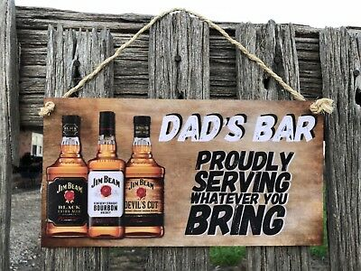 Wooden Sign plaque Country personalised Bar,GARAGE,Shed, Home decor  AU