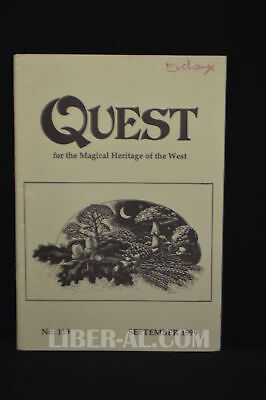 QUEST (for the Magical Heritage of the West) No.119 September 1999