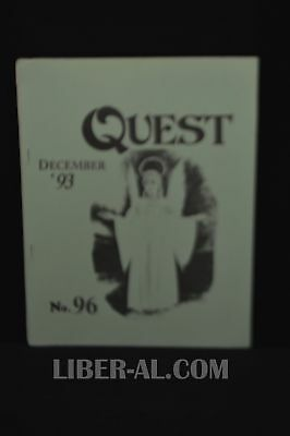 QUEST (for the Magical Heritage of the West) No.96 December 1993