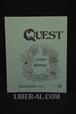 QUEST (for the Magical Heritage of the West) No.92 December 1992