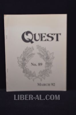 QUEST (for the Magical Heritage of the West) No.89 March 1992