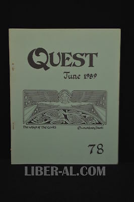 QUEST (for the Magical Heritage of the West) No.78 June 1989