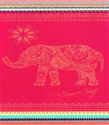 Serviette de plage Drap de bain 2 places Elephant rose fuchsia double XXL