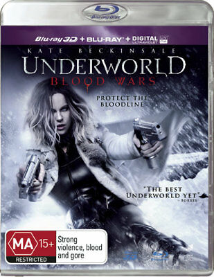Underworld: Blood Wars  (3D Blu-ray/Blu-ray/UV)  - BLU-RAY - NEW Region B