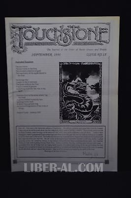 Touchstone Issue No. 15 September 1996 [The Journal of the Oder of Bards Ovat...