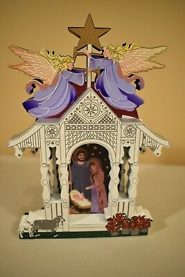 SHELIA'S NATIVITY CHRISTMAS Heartsville Gazebo Shelf Sitter  TSN01 1998  (h1018)