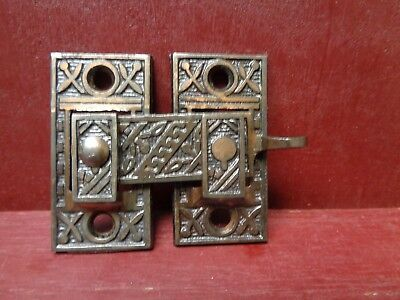 1 MORE AVAIL ANTIQUE SHUTTER BAR JELLY CABINET LATCH 1880's #3