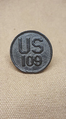 WWI US 109th Regiment Collar Disk, 28th (Keystone), 34th (Sand Storm) Divisions