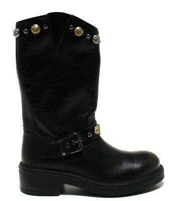 hot sale online 4b31b fc4bb CULT SCARPE donna stivaletti stivali CLE103802 WHO BOOT 2524 LEATHER BLACK