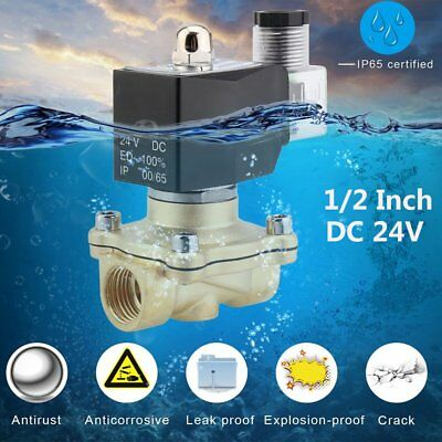 """1/2"""" Brass Electric Solenoid Valve 24V DC Volt Water Air Gas VITON NC WX"""