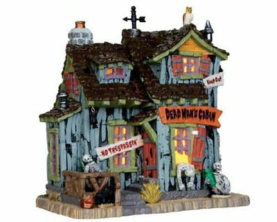 LEMAX Spooky Town Collection Dead Man's Cabin Brand New In Box