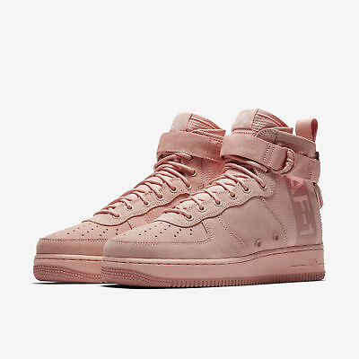 Size Nike SF AF1 Special Field Air Force One Mid Suede Pink Coral AJ9502 600