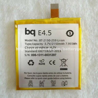 Original 2150mAh 3.8V Battery BT-2150-259 For BQ Aquaris E4.5