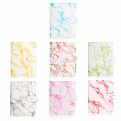 Marble Leather Passport Case Holder RFID Blocking Travel ID Credit Card Wallet