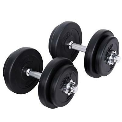 Dumbbell Set Weight Dumbbells Plates Home Gym Fitness Exercise Bodybuilding 20KG