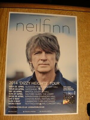 Neil Finn A5 Flyer (From Crowded House) 2014 Dizzy Heights Tour. April/may 2014