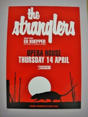 The Stranglers -Wellington, New Zealand A5 Flyer 2016 - Mint Condition