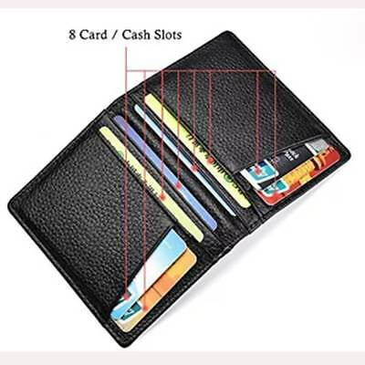 Super Slim Soft Men's Wallet Genuine Leather Mini Credit ID Card Holders
