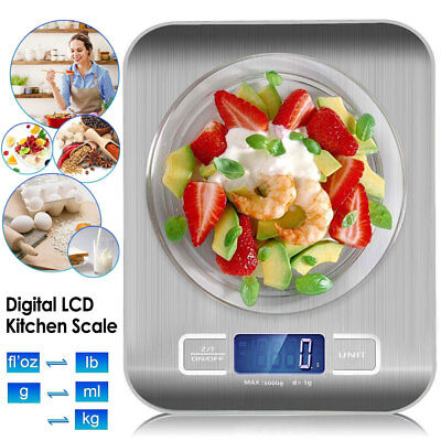 Digital LCD Kitchen Scale Balance Food Weight Postal Scales 1g-5000g Electronic