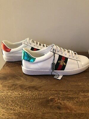 7abe2450775a NEW MENS GUCCI Ace Embroidered Bee Shoes Sneakers Size 10 -  480.00 ...