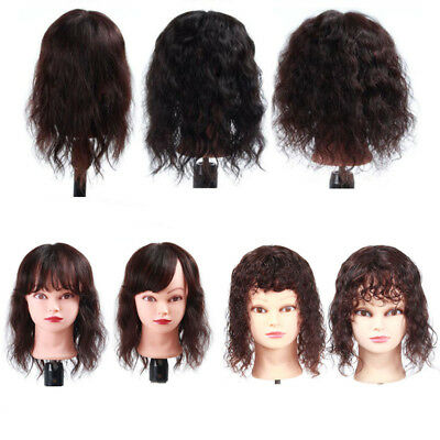 Clip in 100% Human Hair Top Topper Toupee Piece Curly Wavy With Bangs Hairpiece