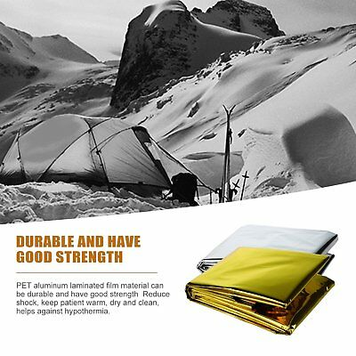 5pcs Space Blanket Thermo Foil Emergency Survival Camping Rescue First Aid QM