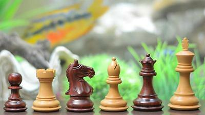 New Wooden Weighted Staunton Chess Set Bud Rose Wood