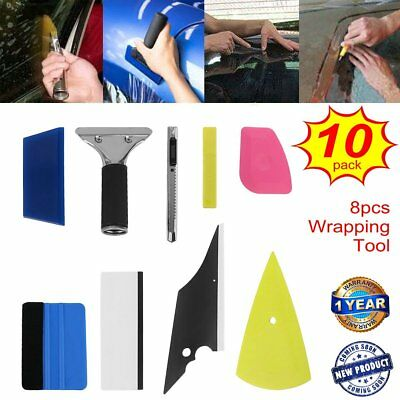 10X 8 in1 Sticker Film Tint Tool kit Car Vinyl Wrap Squeegee Cleaning Scraper TO