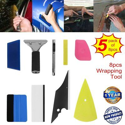 5 X 8pcs PRO Vinyl Squeegee Kit Car Film Wrap Application Tools Scratch-Free TO