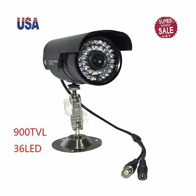 900TVL HD Color Outdoor CCTV Surveillance Security Camera 36IR Night Video TBB
