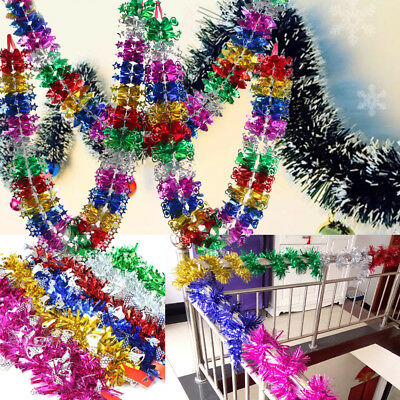 Colorful Christmas Hanging Ceiling Wall Foil Garland Wedding Room Favor Decor