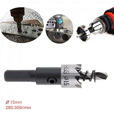 Size 15 MM HSS Metal Holesaw Stainless Steel Drill Bit Hole Saw Cutter
