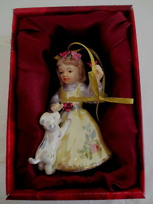 Royal  Albert Old Country Roses Hand Painted  Angel & Dog Ornament Boxed
