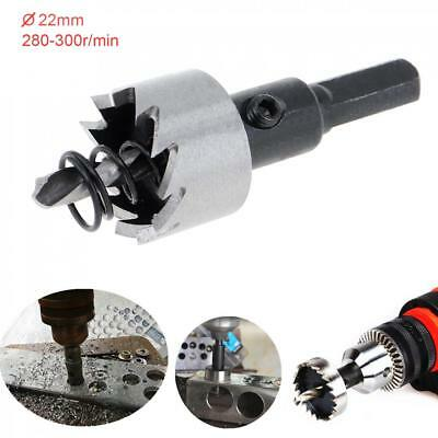 HSS Metal Holesaw Stainless Steel Drill Bit Hole Saw Cutter Size 22 MM