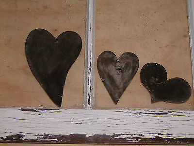 Primitive Early 18th~19th Century Style 3 Tin Heart Quilting Template Patterns