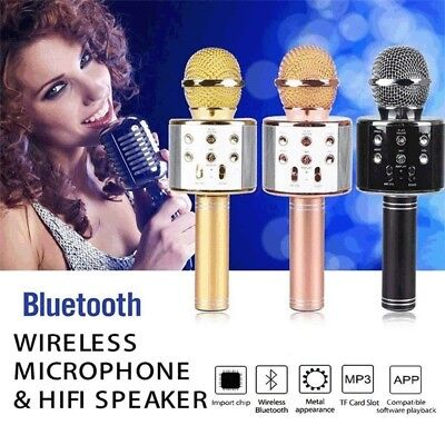 Wireless Music Microphone Handheld Karaoke Mic USB KTV Player Bluetooth Speaker