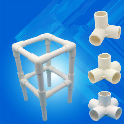 5pcs 20/25/32mm Three-Dimensional PVC Connector DIY Tool 3/4/5 Ways Tube Adapter
