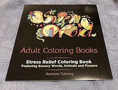 Swear Word Adult Coloring Book Stress Relief, NEW!