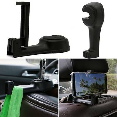 2 in 1 Universal Car Headrest Seat Back Phone Holder Multi-function Hook Hanger